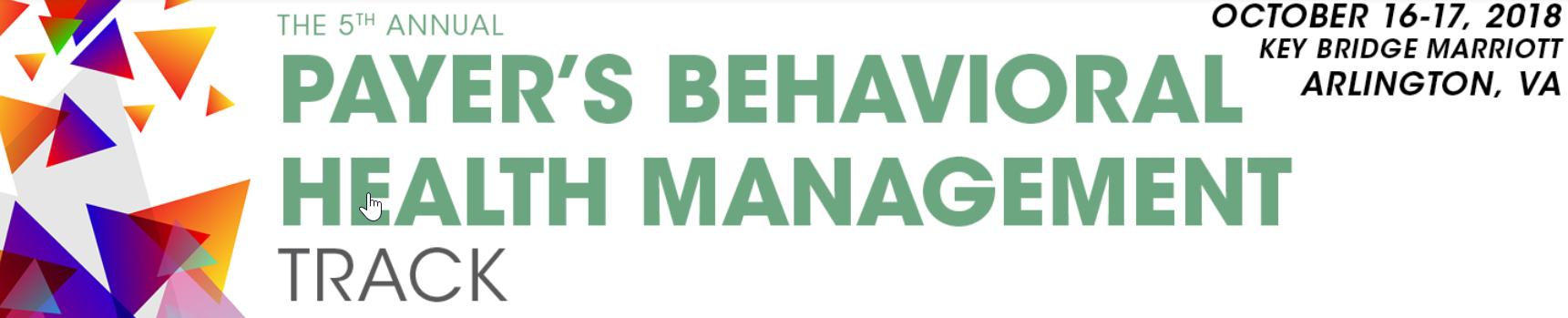 Payer's Behavioral Health Management Track