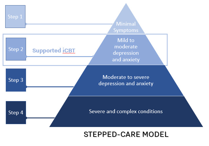 Effects of Digital Therapeutics for mental health in a routine clinical stepped-care model