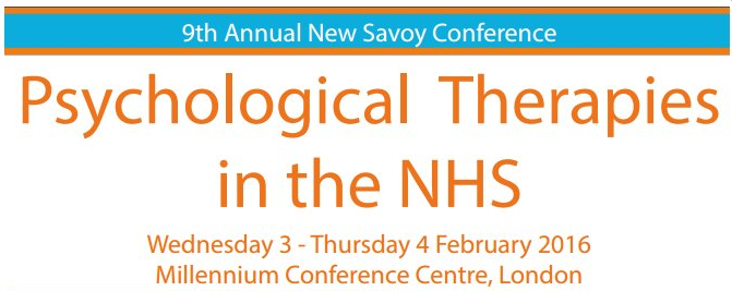 Psychological Therapies in the NHS Conference – 3rd - 4th February